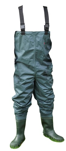 Shakespeare Sigma Nylon Chest Wader Cleated Sole 10 - Green