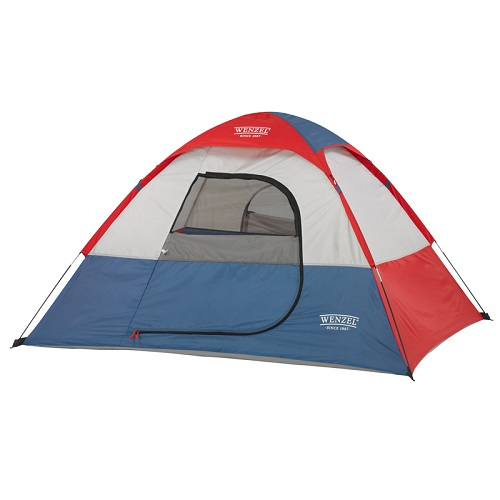 Wenzel Sprout Unisex Child 2 Person Dome Tent - 6 X 5 Ft - Red/blue/white